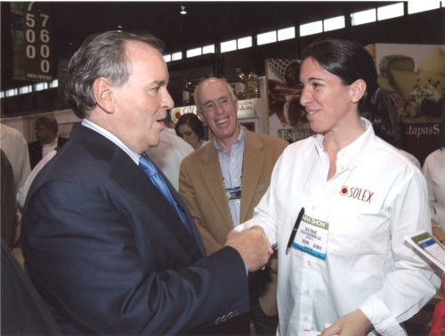 Eva Trias with Richard Daley